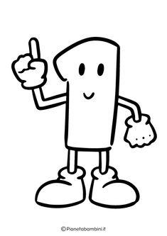Numeri da Stampare, Colorare e Ritagliare per Bambini | PianetaBambini.it Education, Boys, Fictional Characters, Cute Pets, Note Cards, Activities, Baby Boys, Teaching, Fantasy Characters