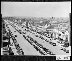 Augusta, 1930s-early 1940s.; View of Broad Street — with Gary Lee Hagerman Jr. Before my time.