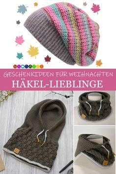 Crocheted favorites: gift ideas for Christmas, . Crocheted favorites: gift ideas for Christmas, häkeln Ideen Crochet. Easy Knitting Projects, Easy Knitting Patterns, Knitting Ideas, Knitted Blankets, Knitted Hats, Crochet Hats, Easy Crochet, Knitting Needle Conversion Chart, Crochet Amigurumi