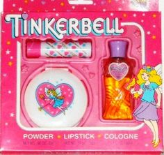 Childhood Memories / Tinkerbell Cosmetics Lipstick, Compact Powder, and perfume I HAD THIS. I will never forget the smell of the perfume! 90s Childhood, My Childhood Memories, Tinkerbell Makeup, Nostalgia, Barbie, 80s Kids, Perfume, Ol Days, Good Ole