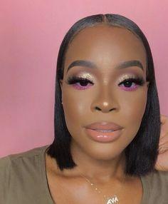 Glitter Makeup Looks, Glam Makeup Look, Makeup Eye Looks, Cute Makeup, Gorgeous Makeup, Pretty Makeup, Beauty Makeup, Makeup Inspo, Makeup For Black Skin
