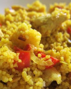 Cus cus al curry Quinoa, Sin Gluten, Going Vegan, Japanese Food, Risotto, Yummy Food, Pasta, Meals, Cooking