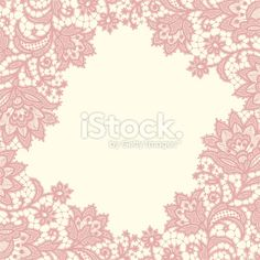 Lace fame Royalty Free Stock Vector Art Illustration