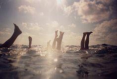handstands in the water x5