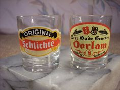 Two European Shot Glasses by ECCENTRICRON on Etsy