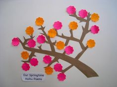 Post-It Teachers Activities all activities... a haiku tree made with post its