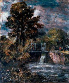 A Sluice, perhaps on the Stour c.1830-36. John Constable