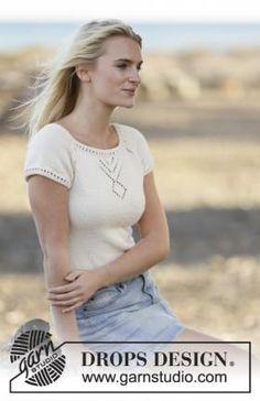 Простой топ спицами для женщин, выполненный из летней пряжи средней толщины на основе хлопка и вискозы. Вязание топа начинается от
