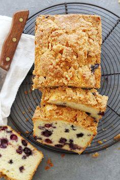 Blueberry Lemon Muffin Bread | girlversusdough.com @girlversusdough