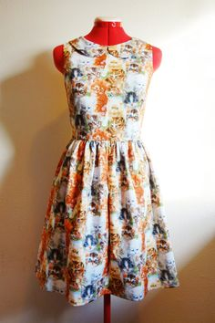 RESERVED /////  Kitty Cat Dress for Chase by KissyfaceFrocks, $160.00