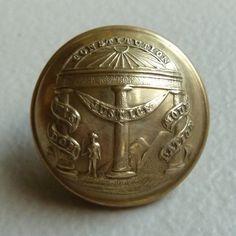 Georgia State Seal Civil War Confederate Button