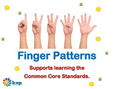 """Finger Patterns"" - Quickly show 1 to 5 fingers on one hand. Supports learning Common Core Standards: 0-K.OA.5, 0-K.OA.1 [KNP Task # S 2267.0]"