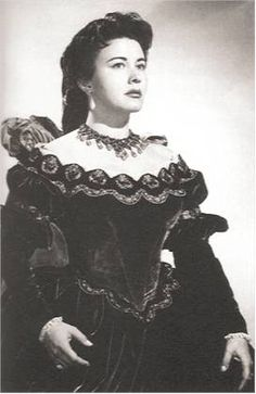 Lisa della Casa as Donna Elvira in Mozart's Don Giovanni.  She died this week in Switzerland at the age of 93.