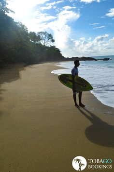 Tobago Tip: Surfs Up Edition!     Did you know that Tobago is Surfer friendly?     This is Grafton Beach, a lot of surfers come here to catch great waves! - TB
