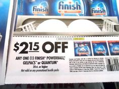 Finish Gelpacs, Quantum or Powerballs only $0.59 at CVS!