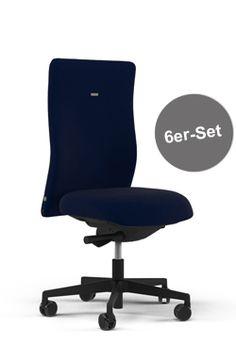 Oder doch lieber in Blau? Der ergonomische Bürostuhl laboro im preisgünstigen 6er Set!