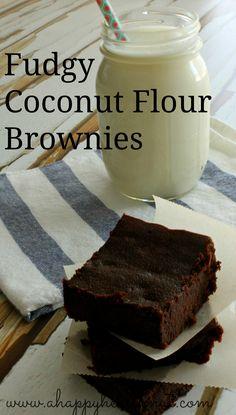 Fudgy Coconut Flour Brownies