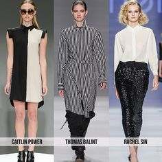 Black and white - Top 10 Trends from Toronto Fashion Week for Spring 2015 #WMCFW