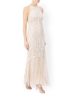 Ostara Maxi Dress | Nude | Monsoon