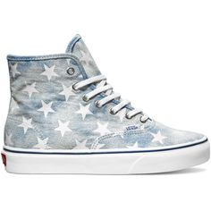 Vans Authentic Hi Shoe - Blue Stars ($125) ❤ liked on Polyvore
