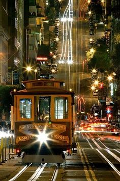 San Francisco, California - I traveled here in January 2000 - So fun riding this all day and night!
