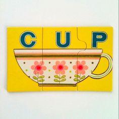 CUP puzzle by Playskool  waltersilva.tumblr.com