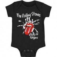 Rolling Stones Sticky Little Fingers Romper Bodysuit