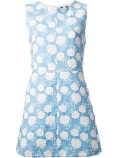 MSGM Vestido Azul Bordado