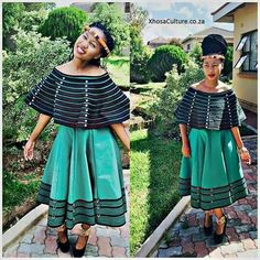 Traditional Xhosa attire with a twist! Love it <3