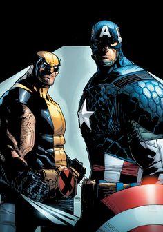 ✭ Wolverine & Captain America by Humberto Ramos & Edgar Delgado