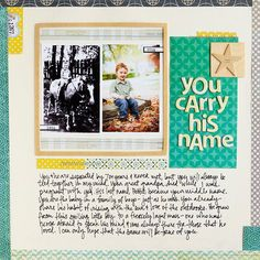 for the scrapbook I want to make for my kids. Could write about why we gave them their name :)