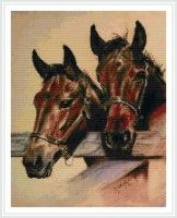 Cross Stitch Horse, Cross Stitch Animals, Counted Cross Stitch Patterns, Bay Horse, Two Horses, Moose Art, Dogs, Watch, Embroidery