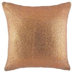 Buy Metallic Print Knit Cushion Copper from our Cushions range - Tesco.com