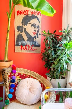 Libby Living Colorfully Maximalist Colorful Apartment Tour | Apartment Therapy Apartment Therapy, Creaky Floors, Colorful Apartment, Urban Outfitters, Vintage Bar Carts, Custom Neon Signs, Target Rug, Feature Wallpaper, All Of The Lights