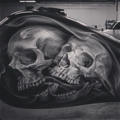 Look at the detail! Our boy @ryan__townsend is killing it with these skulls. See the bike in at the ...