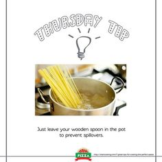 And so don't boil pasta in a covered pot, as it will quickly overflow. #RCP3 #ThursdayTip