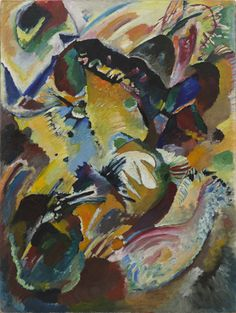 "Panel for Edwin R. Campbell No. 2  Vasily Kandinsky (French, born Russia. 1866–1944)    1914. Oil on canvas, 64 1/8 x 48 3/8"" (162.6 x 122.7 cm). Nelson A. Rockefeller Fund (by exchange). © 2012 Artists Rights Society (ARS), New York / ADAGP, Paris"