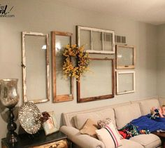 s 11 totally unexpected ways to fill your blank walls in minutes, repurposing upcycling, wall decor, Hang a Collage of Windows