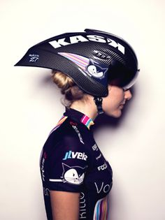 FAST   key to the success of this helmet shape is keeping your eyes forward - as soon as you look down to check your computer etc - you are creating more drag - Glen Swann told me that