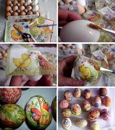 Springtime Napkins + Easter Eggs = Funtime for Kiddos