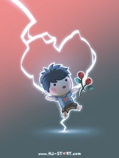 Love stuck me like lightning. 7 billion people in the world and we found each other.