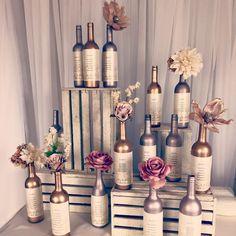 Wine bottle seating chart designed by #cldesigns www.clevents.ca #alternativeseatingchart #seatingchart #winebottles #wine #wedding #winetheme