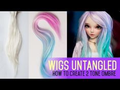 Wig Making for Dolls - How To Do 2 Tone Ombre Effect - YouTube