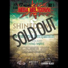 Phoenix AZ it's your turn! Sold out show tonight @Shinedown at #MesaMeltdown. Who's going?!