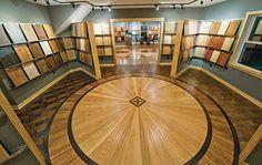 "M P Caroll Hardwood project, another elaborate wood floor from Hardwood Floors Magazine's ""Wood Floor of the Year 2014."""