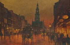 John Atkinson Grimshaw Paintings, The Strand, London, 1899.
