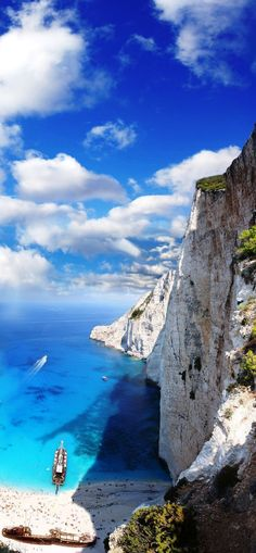 Navagio Beach, Zakynthos Island, Greece - Explore the World with Travel Nerd Nici, one Country at a Time. http://TravelNerdNici.com #greecetravel