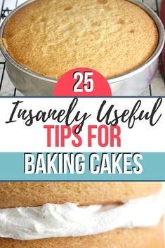 25 insanely useful tips for baking cakes. With these tips, you can bake cakes that come out moist and with the proper texture every time. Baking Secrets, Baking Tips, Baking Recipes, Cake Decorating Techniques, Cake Decorating Tips, Cake Decorating For Beginners, Cupcakes, Cupcake Cakes, Cupcake Recipes