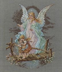 Guardian Angel Counted Cross Stitch Kit