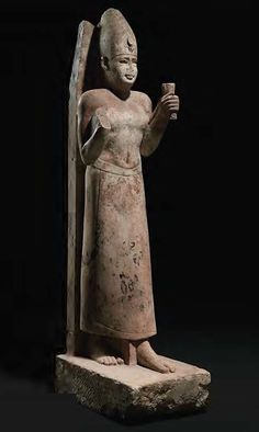 Limestone cult statue of Nectanebo – Egypt (~380-362 BC)
